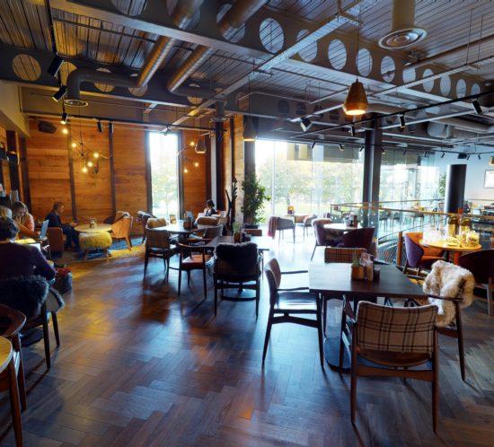 Image showing restaurant hot desking facility